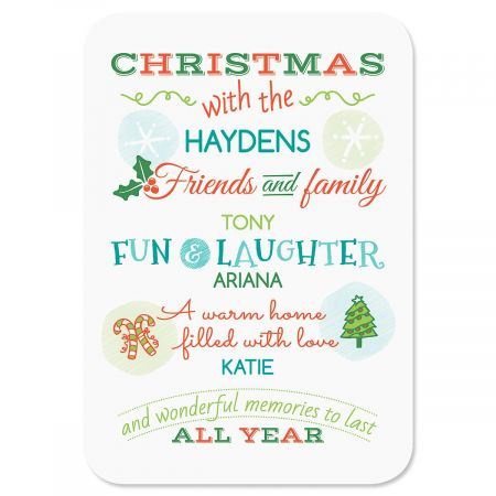 Personalized Christmas Tempered Glass Cutting Board