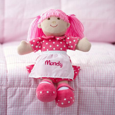 Pink Cuddly Soft Personalized Doll