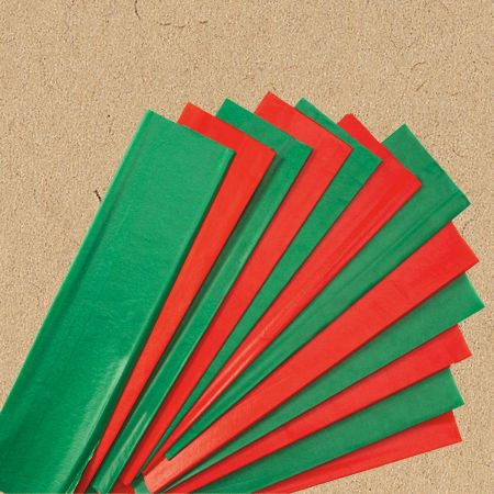 Red & Green Tissue Paper Sheets - BOGO
