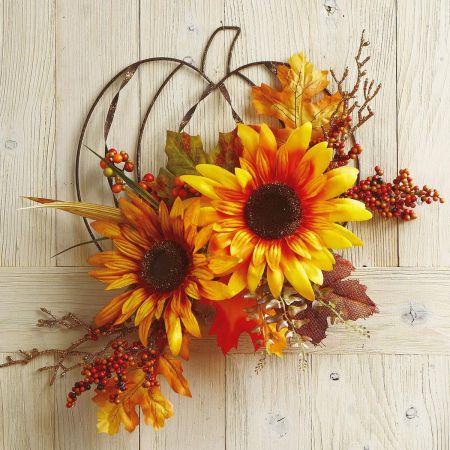 Sunflower Berry Wire Pumpkin
