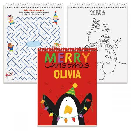 Personalized Christmas Color & Activity Book