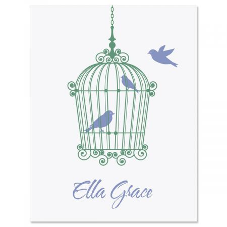 Birdcage Personalized Note Cards