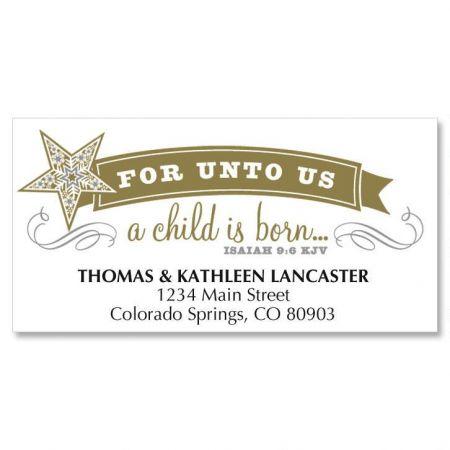 Simple Stars Christmas Address Labels