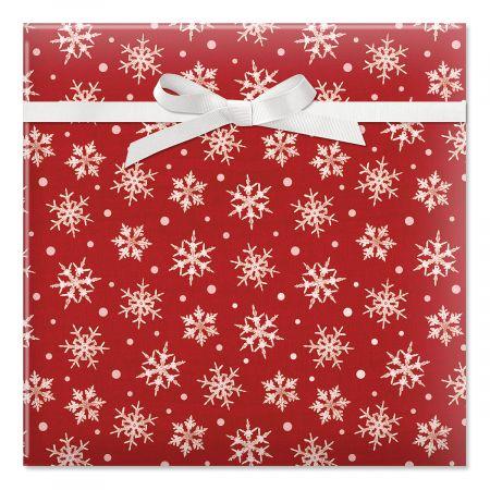 Snowflake Dots Jumbo Rolled Gift Wrap
