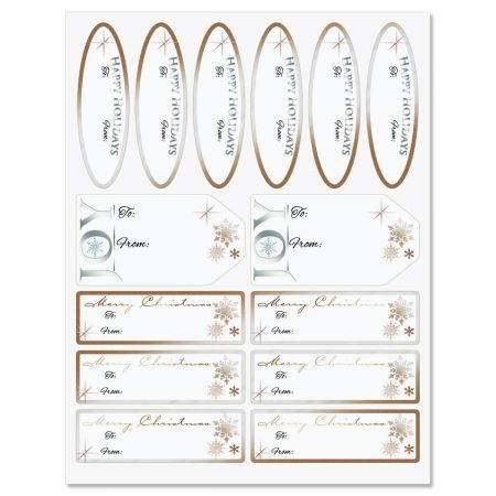 Metallic Script Labels