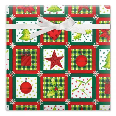 Holiday Elements Jumbo Rolled Gift Wrap