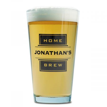 Beer Pint Personalized Glass - Brew