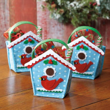 Birdhouse Felt Treat Bags