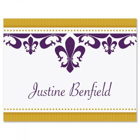 Fleur De Lis Personalized Note Cards