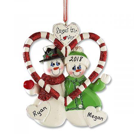 Personalized Snow in Love Ornament