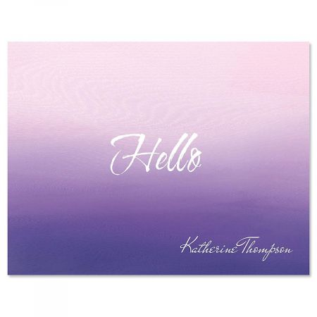 Orchid Ombre Personalized Note Cards