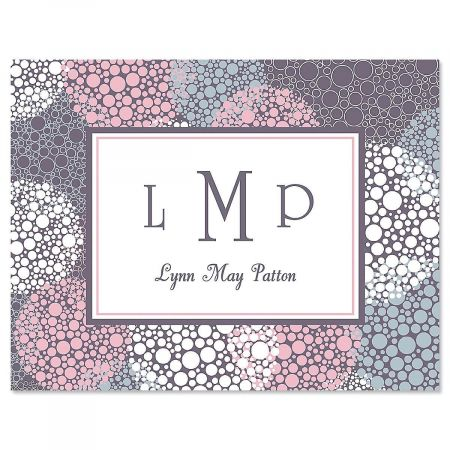 Gray Burst Personalized Note Cards