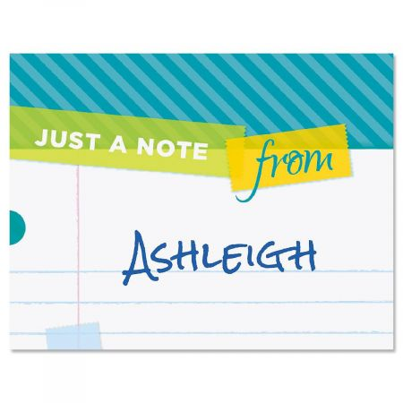 Tape a Note Personalized Note Cards