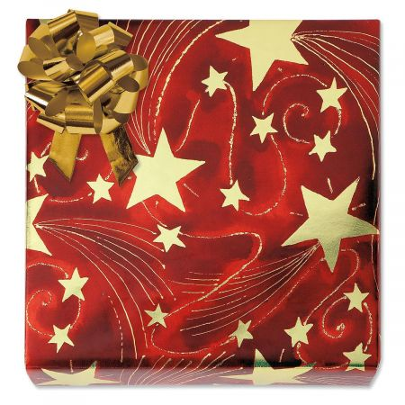 Golden Starlight Foil Rolled Gift Wrap