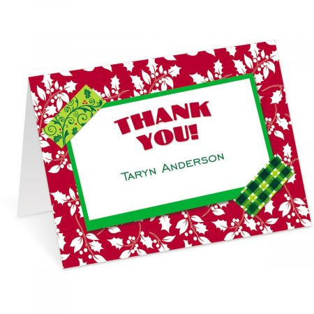 Holiday Tape Thank You Cards