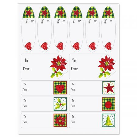 Holiday Elements Matching Self-Stick Labels