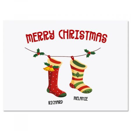 Christmas Stockings Create-A-Card Set of 18