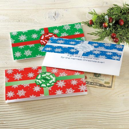Package Christmas Money Cards