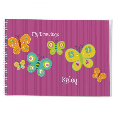 Flutterby Personalized Sketchbook