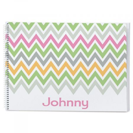 Chevron Personalized Sketchbook