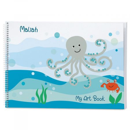Octopus Personalized Sketchbook