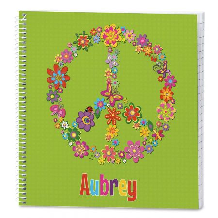 Peace Sign Personalized Journal