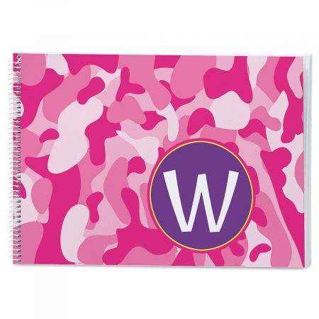 Camo Personalized Sketchbook
