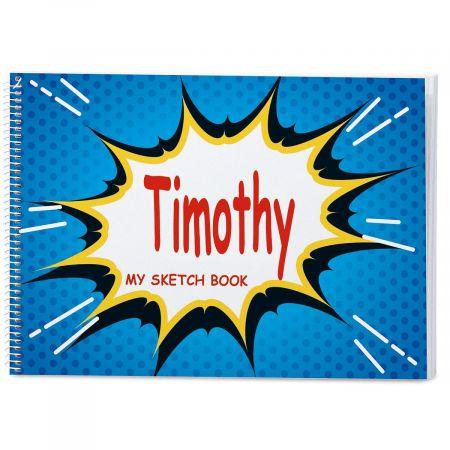 Super Hero Personalized Sketchbook