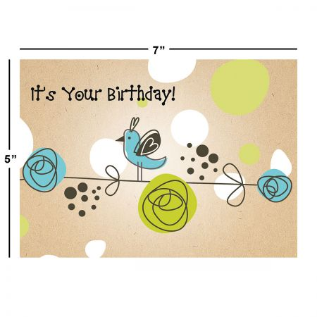 Kraft Blossoms Birthday Cards Value Pack