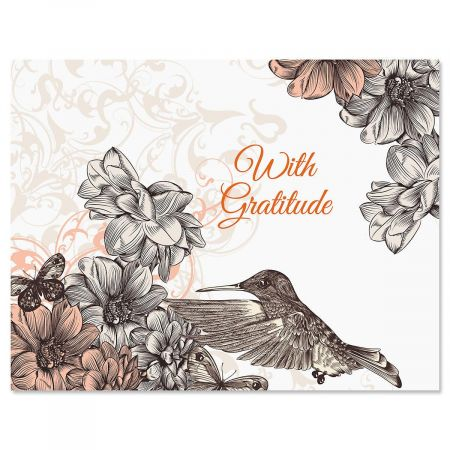 Hummingbird Garden Personalized Note Cards