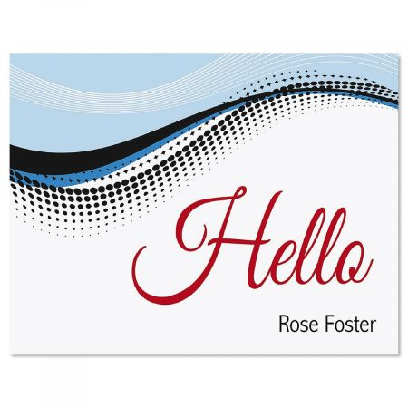 Simply Hello Personalized Note Cards