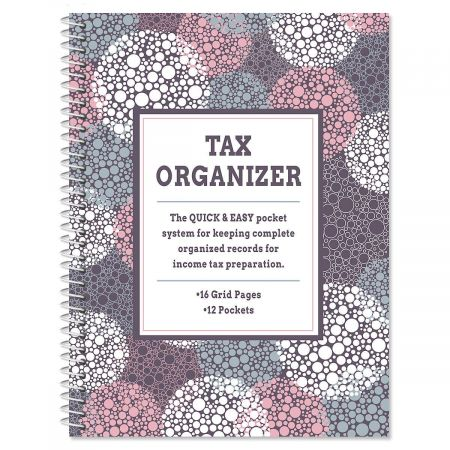 Gray Bursts Tax Organizer