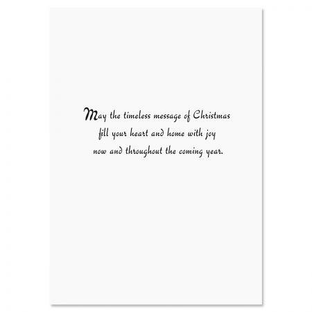 Snowflake Tree Religious Christmas Cards