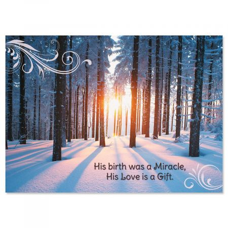 Woodland Miracle Religious Christmas Cards