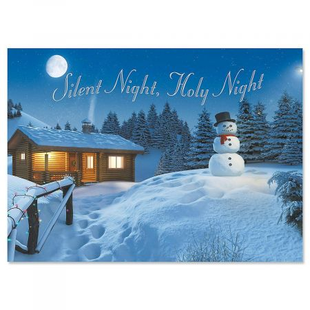 Peaceful Night Religious Christmas Cards