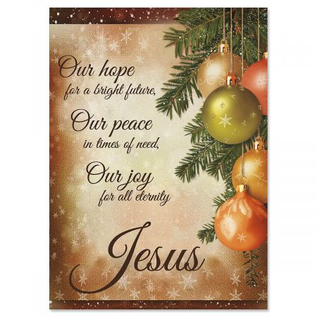 Pine Ornaments Religious Christmas Cards | Current Catalog