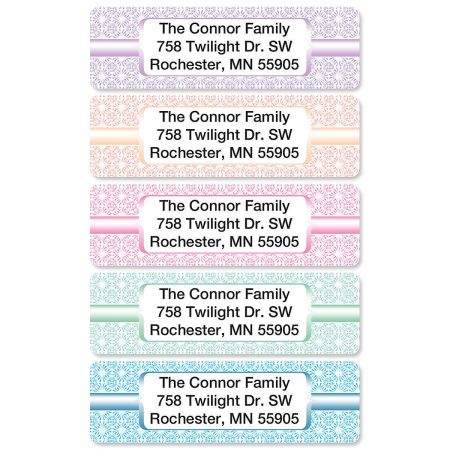 Shabby Chic Rolled Address Labels  (5 designs)