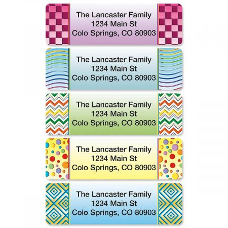 Vivid Rolled Address Labels  (5 designs)