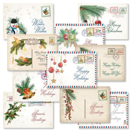 Vintage Christmas.Vintage Christmas Cards Value Pack