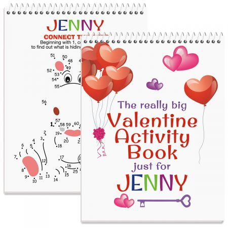 Personalized Really Big Valentine Activity Book-Girl-612011A