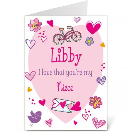Special Girl Valentine Create-A-Card