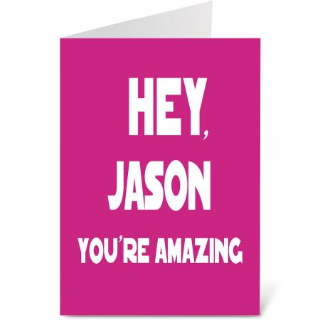 Hey You Personalized Valentine Card