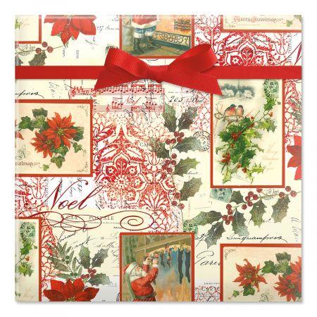 Christmas Elegance Jumbo Rolled Gift Wrap