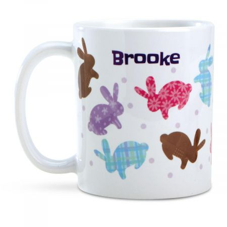 Bunnies Easter Icons Personalized Mug