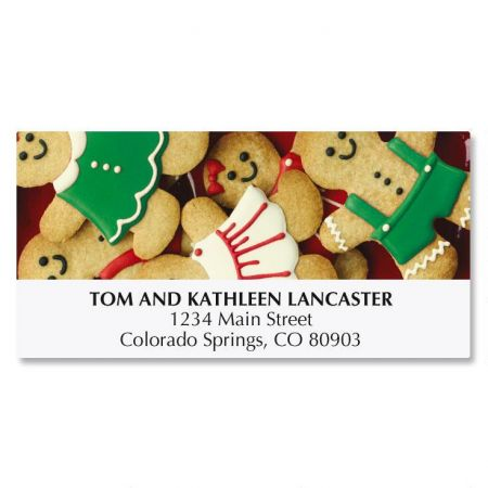Gingerbread Cookies Deluxe Address Labels