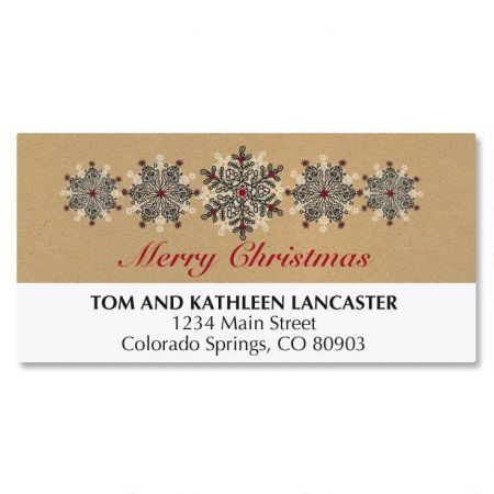 Kraft Stamped Christmas Deluxe Address Labels