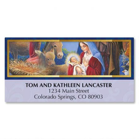 Nativity Frame Deluxe Address Labels