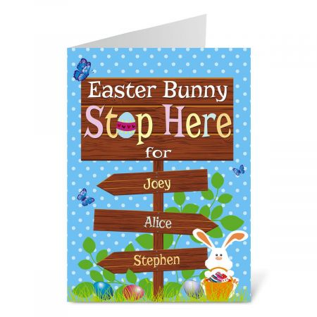 Bunny Stop Easter Create-A-Card
