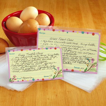 Spring Floral Recipe Cards - 4 x 6