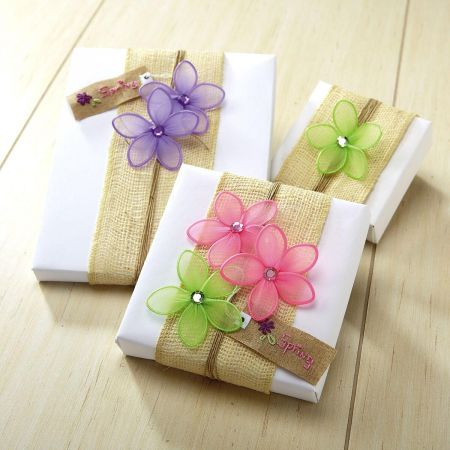 Flower Gift Wrap Decorations